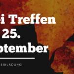Drei Treffen am 25. September 2021
